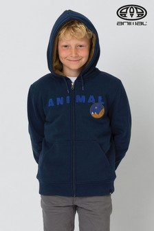 Animal Navy Scout Sherpa Lined Zip Hoody