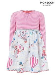 Monsoon Pink Baby Dorian Balloon 2 In1 Dress