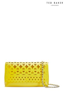 Ted Baker Yellow Cut-Out Clutch Bag
