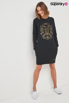Superdry Embroidered Regal Sweat Dress