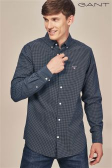 GANT Navy Micro Circle Print Shirt