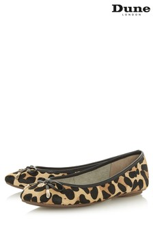 Dune London Leopard Bow Detail Ballerina