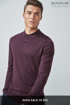 Merino Long Sleeve Poloshirt