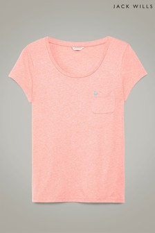 Jack Wills Coral Fullford T-Shirt