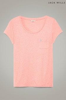 Jack Wills Fullford T-Shirt, korallrot