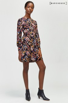 Warehouse Multi Paisley Flippy Dress