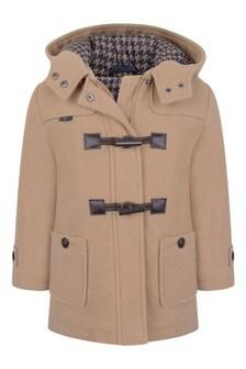 Boys Beige Duffle Coat