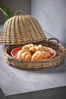 Wicker Food Cover And Tray