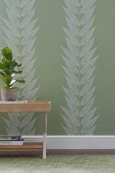 Paste The Wall Juniper Leaf Wallpaper