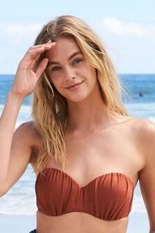 Ruched Bandeau Bikini Top