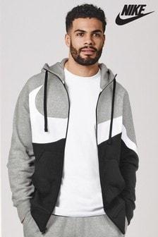 Sweat à capuche zippé avec logo virgule Nike