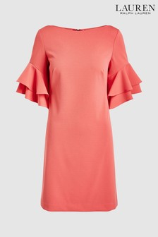 Lauren Ralph Lauren® Pink Silvana Frill Sleeve Dress