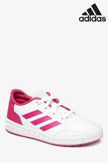 adidas White/Pink Altasport Junior & Youth Trainers