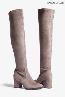 d3d435c3ba5 Karen Millen Natural Signature Stretch Over The Knee Boot