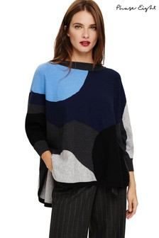 Phase Eight Blue Camouflage Jumper