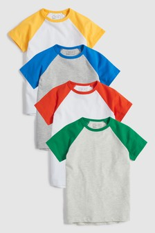 Raglan T-Shirts Four Pack (3-16yrs)