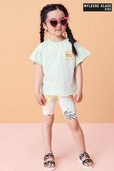 Myleene Klass Kids Ruffle Top And Shorts Set