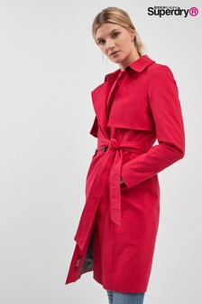 Superdry Red Trench Coat