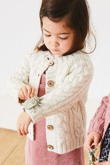粗編開襟毛衣 (3個月至7歲)