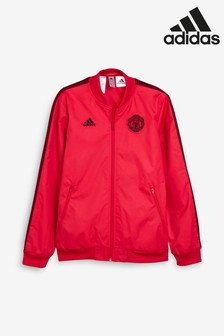 adidas Red Manchester United FC Anthem Jacket