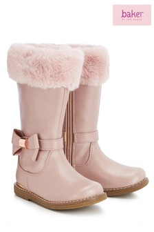 baker by Ted Baker Pink Faux Fur Cuff Full Boot