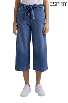 Esprit Blue Denim Women's Culottes