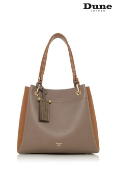 Dune Accessories Grey Large Colourblock Slouch Bag