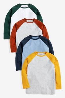 Raglan T-Shirts Four Pack (3-16yrs)