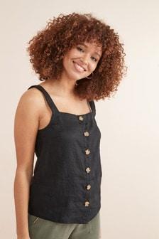 Linen Button Through Cami