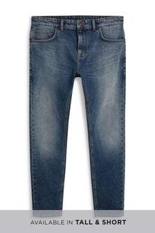 Классические выбеленные джинсы