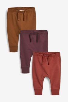 3 Pack Slim Leg Joggers (0mths-2yrs)