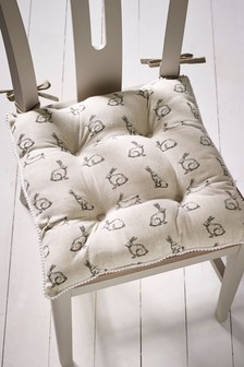 Set of 2 Reversible Bunny Seat Pads