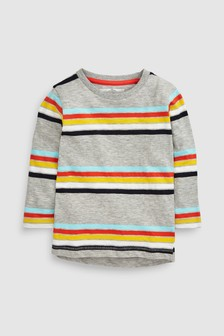 Stripe Long Sleeve T-Shirt (3mths-6yrs)