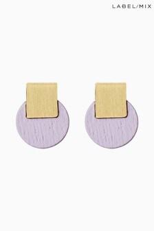 Mix/Wolf & Moon Mini Sol Stud Earrings