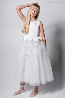 Angel & Rocket Silver Floral Scattered Embellished Dress