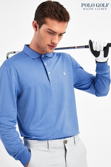 Polo Golf by Ralph Lauren Blue Long Sleeve Poloshirt