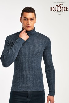 Hollister Grey Turtle Neck Jumper
