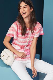4b6d9357196500 Pink Stripe · Blue Tie Dye · Flamingo Print · Sublimation T-Shirt