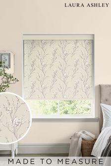 Laura Ashley Natural Pussy Willow Made To Measure Roller Blind