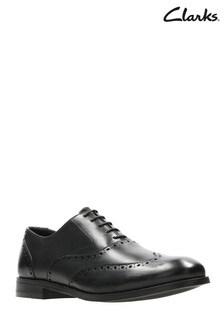Clarks Black Edward Walk Shoe