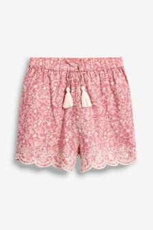 Pantaloni scurți cu tiv brodat (3-16ani)
