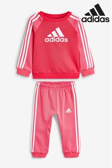 adidas Infant Pink Crew And Jogger Set