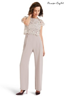 Phase Eight Cream Katy Lace Jumpsuit
