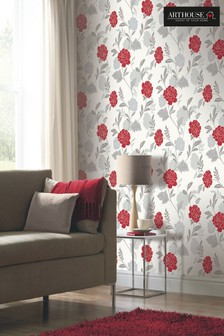 Carla Motif Floral Wallpaper by Arthouse