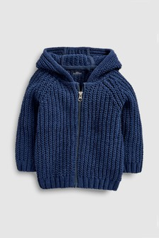 Chenille Zip Through Hoody (3mths-7yrs)
