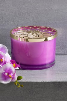 Dark Orchid & Patchouli 3 Wick Candle