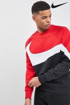 Nike Red Swoosh Crew