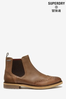 Superdry Brown Chelsea Boots