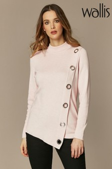 Wallis Blush Eyelet Wrap Jumper