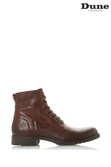 Dune London Cardif Brown Leather Cleated Sole Boots